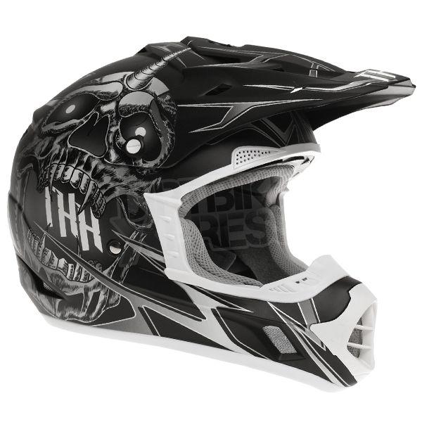 2015 THH TX-12 Helmet - Demon Black Grey