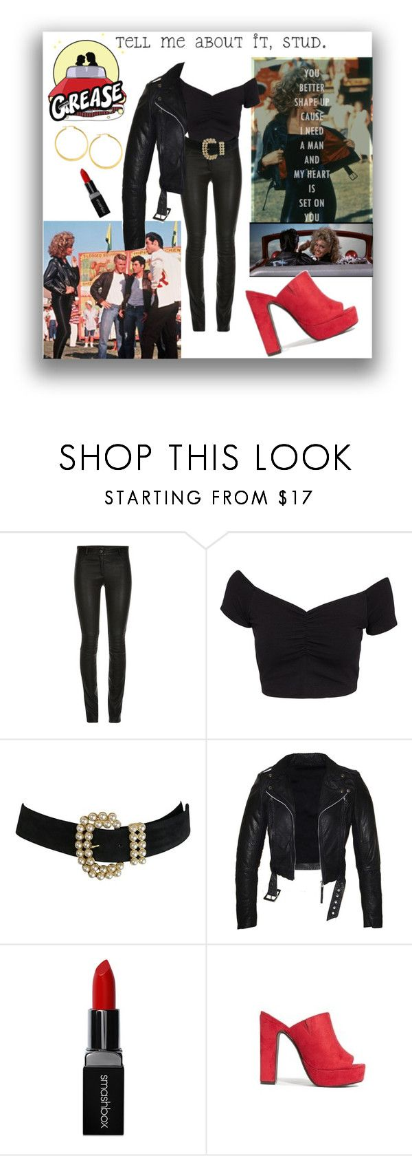 """Goodbye to Sandra Dee"" by closet-freak ❤ liked on Polyvore featuring ElleSD, NLY Trend, Smashbox, West Coast Jewelry and Grease"