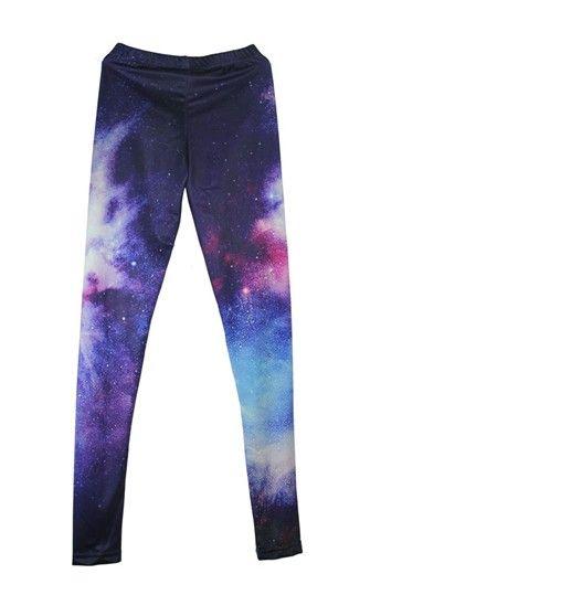 Charming cloud galaxy leggings pants purple fabric for Space pants fabric