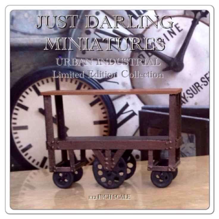 Factory Utility Cart: Just Darling Miniatures