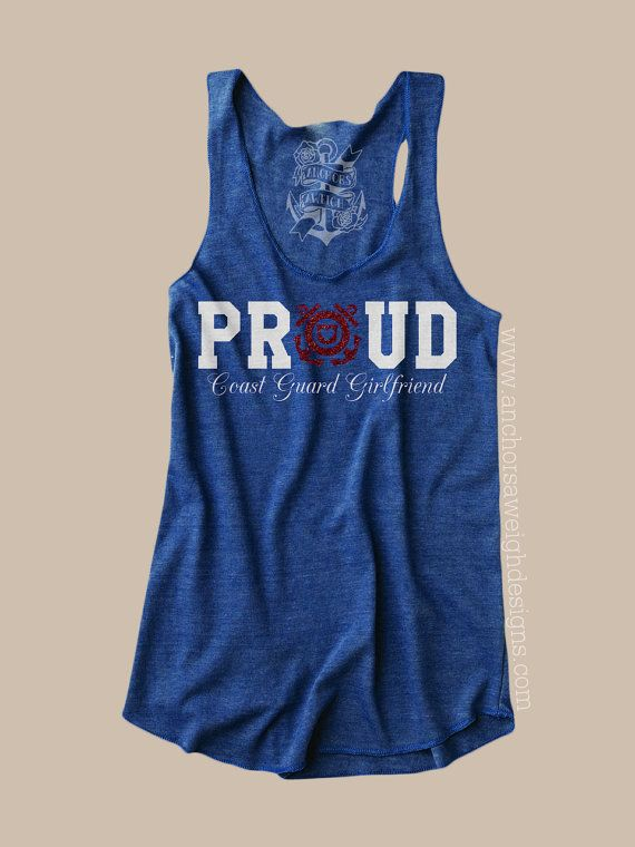 Proud Coast Guard Girlfriend Tri-blend by AnchorsAweighLemoore