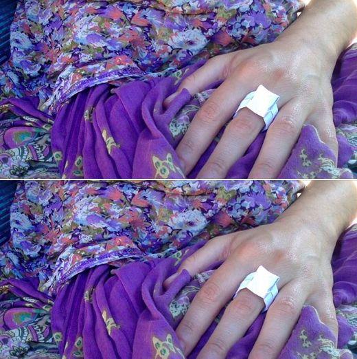Becoming Artist Origami Ring by Liran Sha