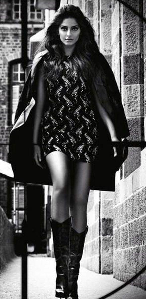 Sonam Kapoor Photoshoot for Vogue September 2014 : Bollywood Celebs