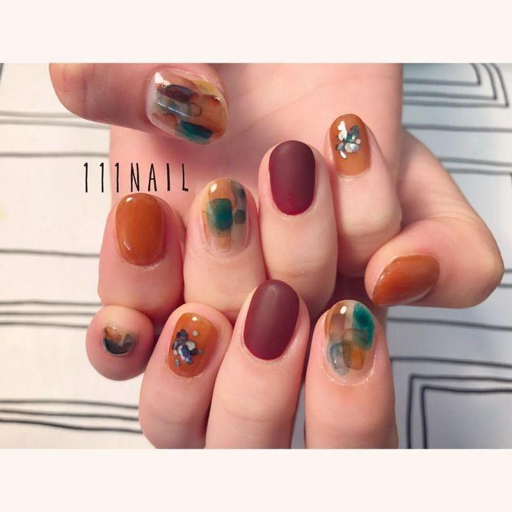 Thanksgiving nails fall nail