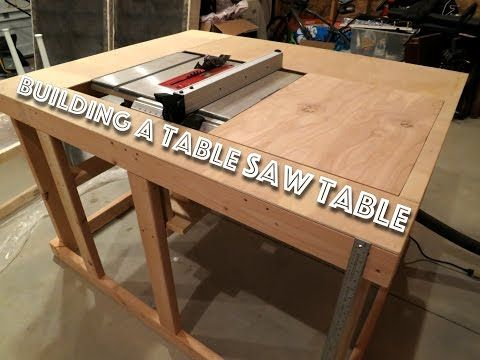 Making a cheap table saw table (Part 1) - YouTube