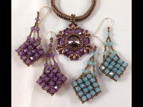 Crystal Dreams Earrings ~ Seed Bead Tutorials