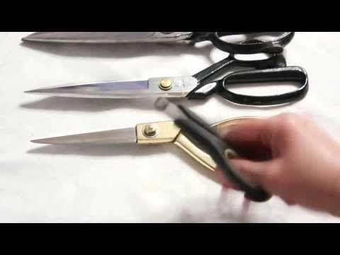 Крой: Ножницы для кроя на ткани. - YouTube