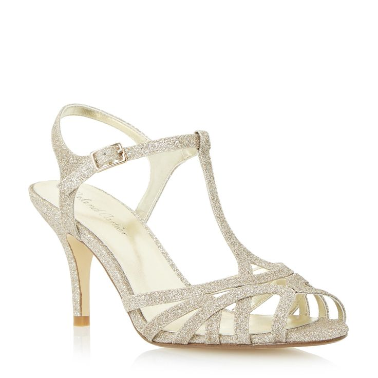 Roland Cartier Ladies MALINDA   Strappy Mid Heel Sandal   Gold | Dune Shoes  Online