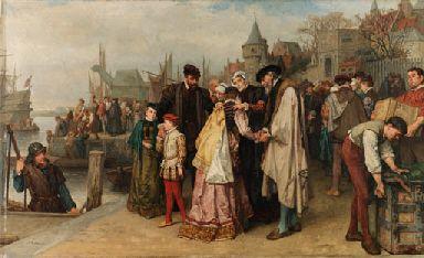 Hugenoten vluchten uit Frankrijk In de 16e, 17e en 18e eeuw noemden ze protestanten in Frankrijk Hugenoten. Hugenoten staan ook bekend als calvinisten omdat ze aanhangers waren van Calvijn. In Frankrijk voerden hugenoten en de katholieken vanaf 1562 bloedige godsdienstoorlogen waarbij aan beide kanten veel slachtoffers vielen. Op de Barholomeusnacht in 1572 vielen veel doden onder de hugenoten. De vijfde heilige oorlog tegen de hugenoten begon op 23 februari, de vervolging duurt tot 1598…