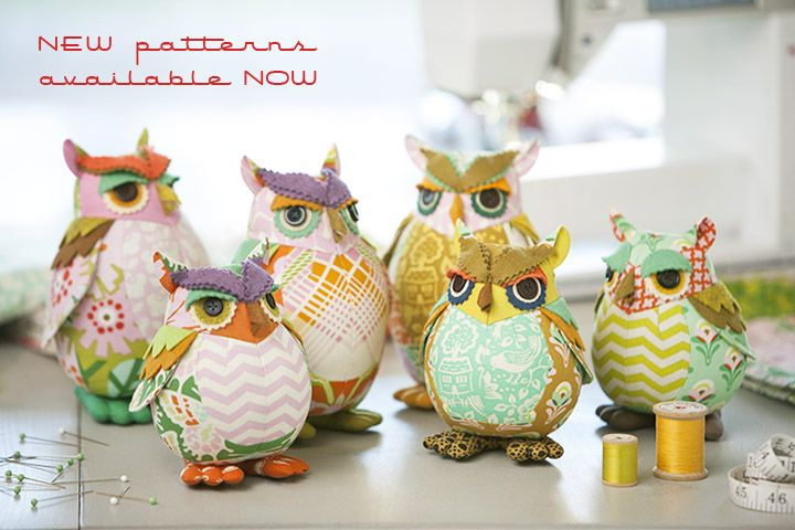 Pattern by Heather Bailey.   Someone please to me how you cannot just love Edgar Owl & Poe?  I laugh...