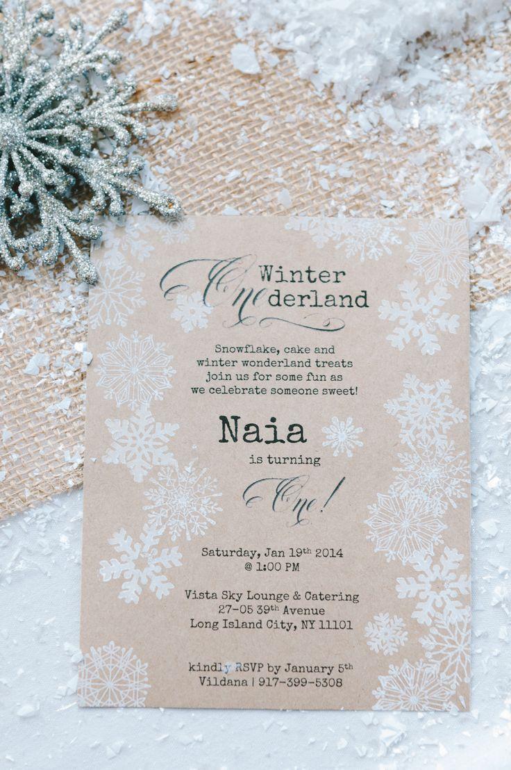 25+ best ideas about winter wonderland birthday on pinterest, Party invitations