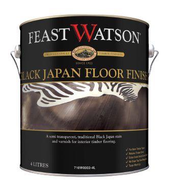 Black Japan Floor Finish | Semi-Transparent Traditional Black Japan Flooring Stain & Varnish