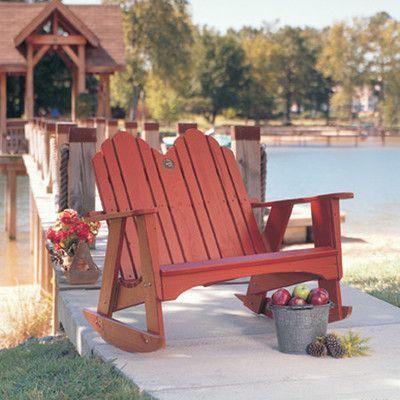 Uwharrie Original Rocking Chair Finish: Tangerine (Distressed)