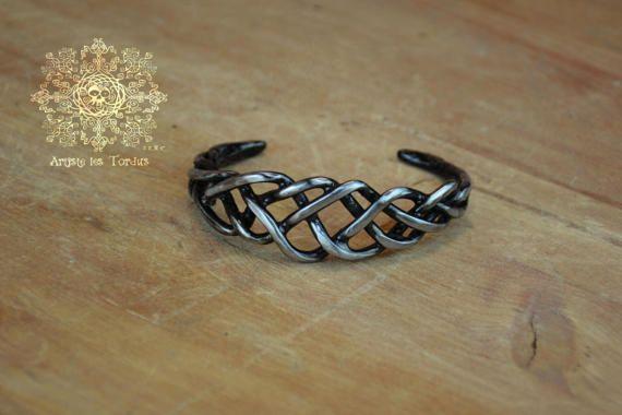 Unisexe Bracelet de métal tressé motif celtic-11