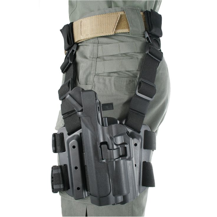 BLACKHAWK! Serpa Level 3 Light Bearing Tactical Holster for Xiphos NT Light, Black/Size 00, Right Hand (Glock 17/19/22/23/31/32)