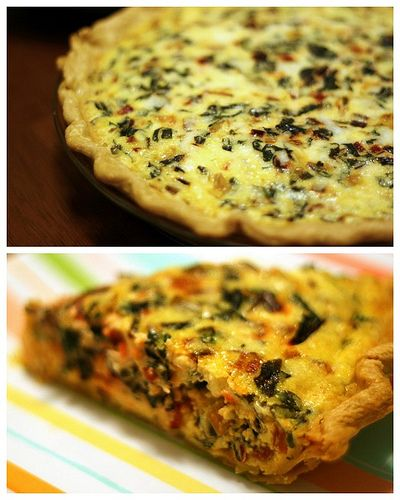 asiago and winter greens quiche #food #yum | savory baking ...