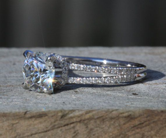 17 Best images about Gold Diamond Engagement Ring on Pinterest