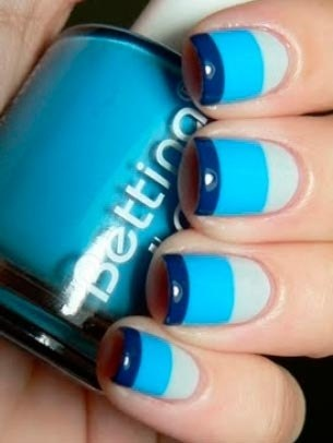 nail idea blue
