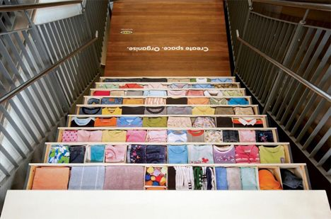 Great stair-ads. Creative space management from IKEA.
