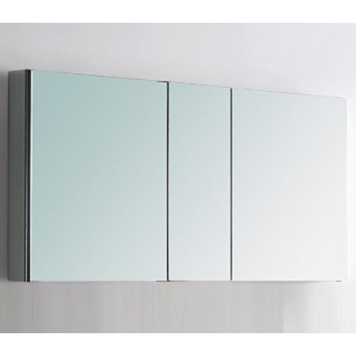 Features:  -Can be wall mounted or recessed into the wall.  -Comes with 3 mirrored doors and 4 tempered glass shelves.  -Modern style.  Shape: -Rectangular.  Mount Type: -Surface mount/Recessed.  Styl