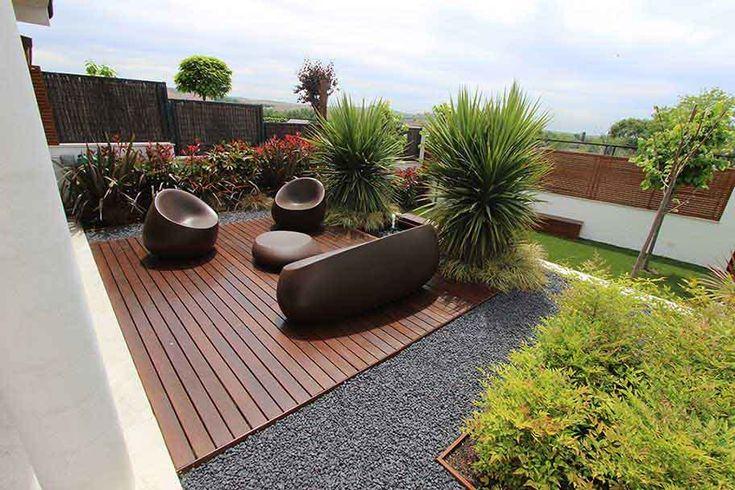 170 mejores im genes sobre decoracion de patios terrazas for Fotos de jardines pequenos