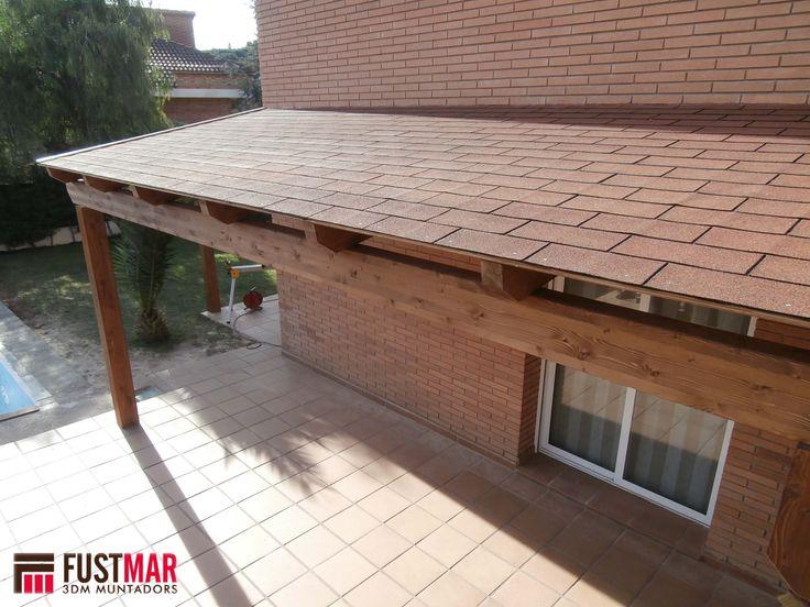12 best pergolas de madera con techo de madera y tegola - Madera machihembrada exterior ...