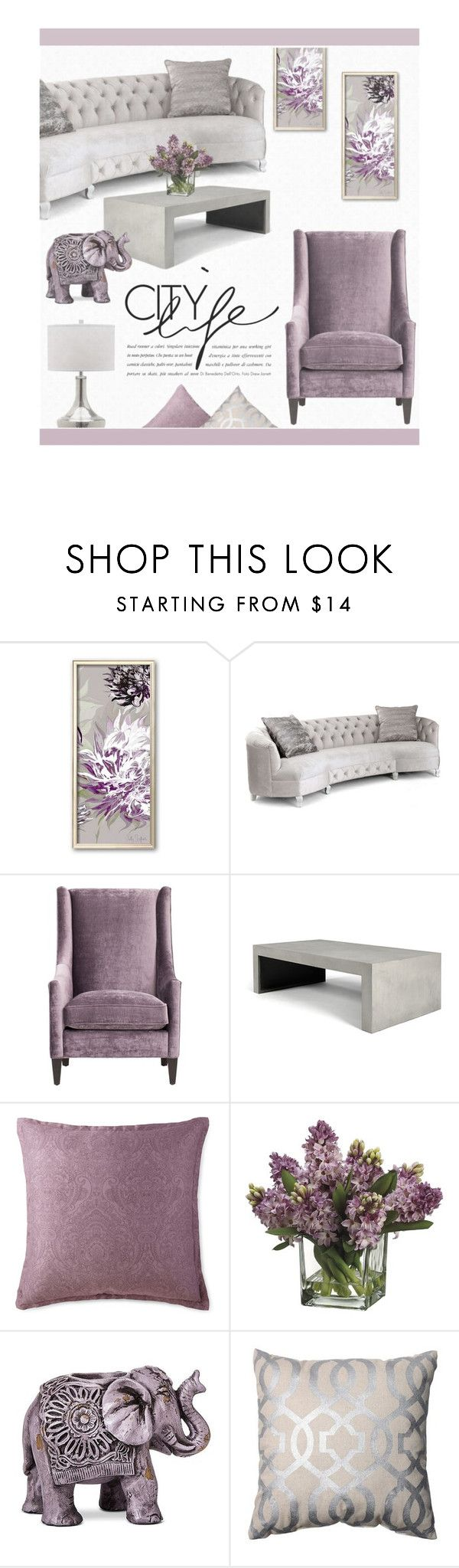 Lilac And Grey By Zaycelik On Polyvore Featuring Interior Interiors Design