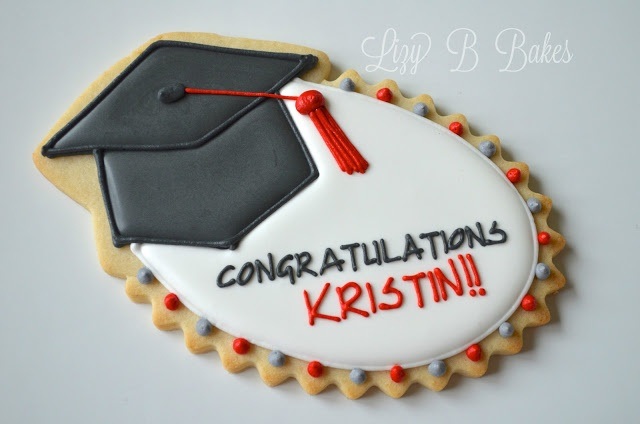 Graduation cap cookie Cookieria By Margaret: É Tempo de Formaturas...
