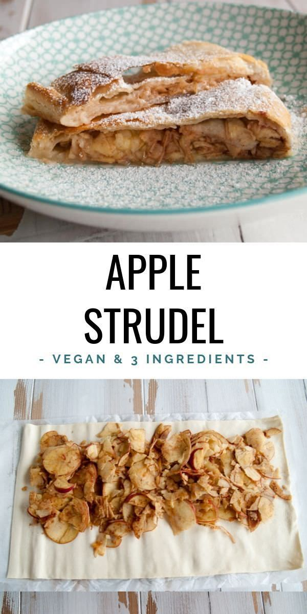 Vegan Apple Strudel Only 3 Ingredients