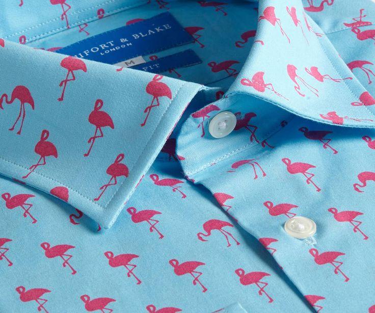 Mens Printed Flamingo Shirt