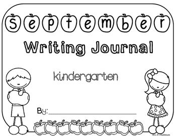 September writing journal cover for grades K-5!  Mrs. K's Klubhouse on TPT