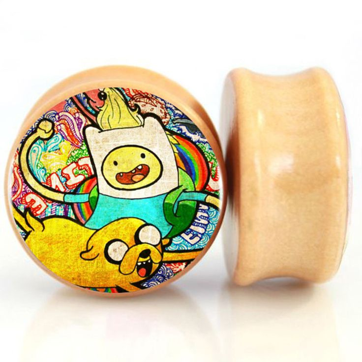 Aliexpress.com : Buy 2pcs/lot Wood Adventure Time Ear Gauge Plugs And Tunnel Ear…