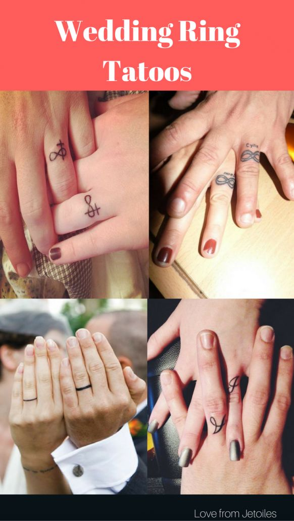 2018 The Best 30 Wedding Ring Tattoo for Couple -