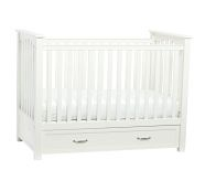 Pottery Barn Kids-convertible storage crib