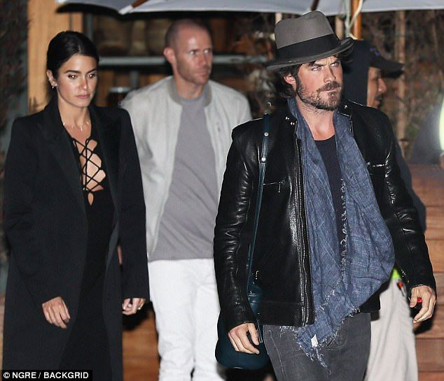 Dinner date! Nikki Reed was positively glowing Saturday, spotted leaving Soho House in Mal...