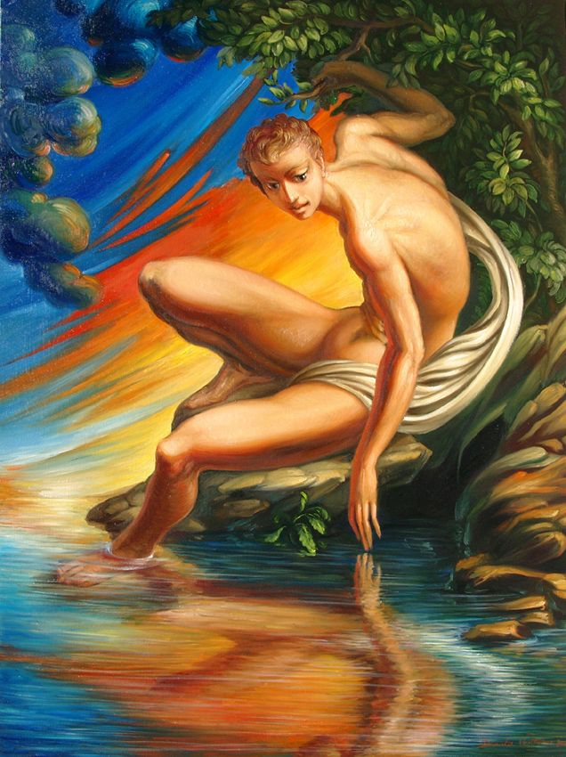 Painting : Narciso of Daniela Ventrone