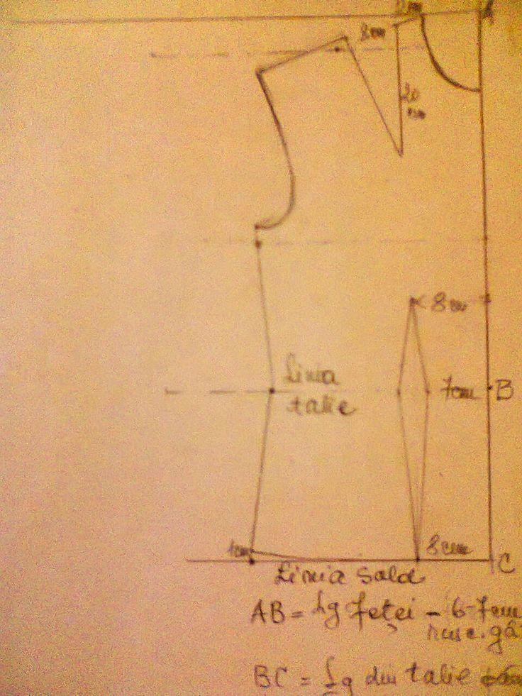 Adriana  Hobby: Tiparul pentru fața bluzei cu pensă pe umăr