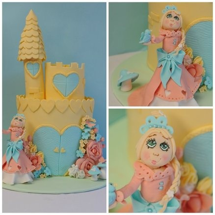 Princess Love-heart and her Castle  Cake by Ellana