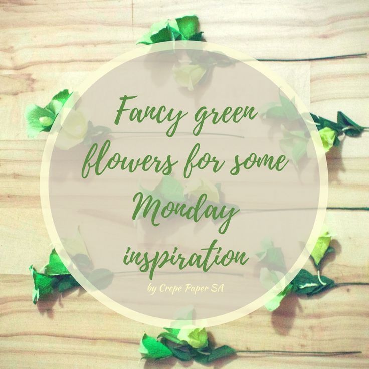 Green crepe paper flowers just made me smile! Find some more inspirational designs on our boards and website (www.crepepaper.co.za)