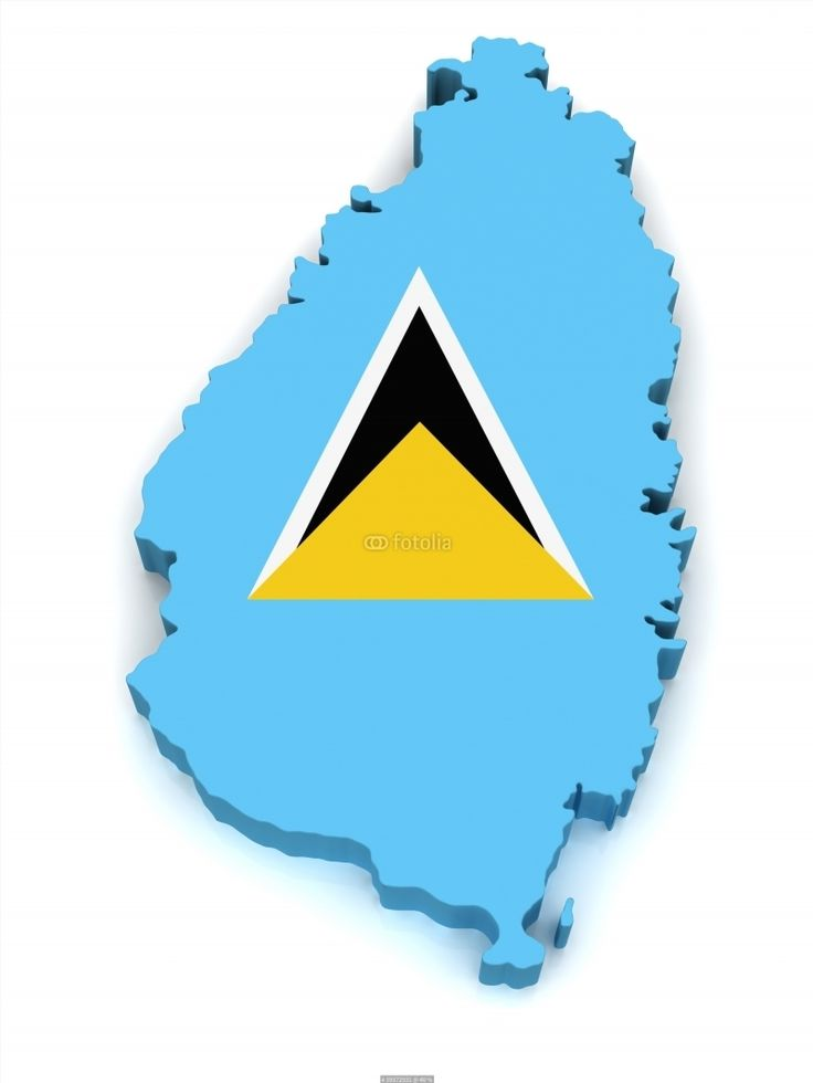Colombia On World Map%0A  D Map of Saint Lucia poster