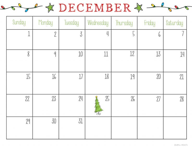 Free Printable December 2013 Calendar, wish list, letter to santa, items to bake, etc...