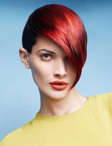 Red Hot Rhythm Geometric Hairstyle #cabelo #hair #haircut #fashion #hairstyle