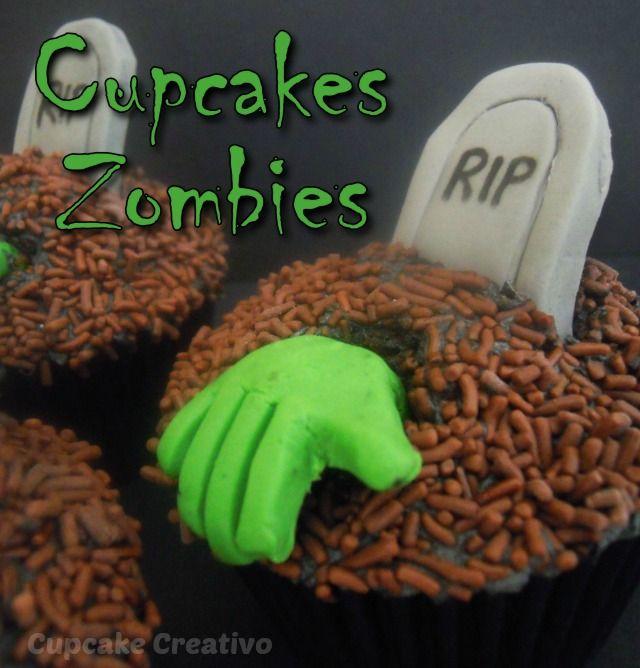 Cupcake Creativo: Cupcakes Zombies (Halloween)