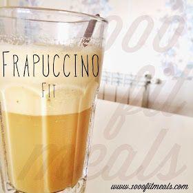 """Batido Smoothie frapuccino version fitness. 1 cucharada de café soluble (para mi el mejor el """"espreso"""" hscendado)  -Medio vasito de leche desnatada -Medio vaso de agua -4-5 hielos -1/2 cucharitita de saborizante cookies&cream o 5 gotitas de aroma de vainilla -1/2 cucharita de cacao desgrasado valor -edulcorante al gusto -canelita (opcional) -1 cacito de whey protein neutra, vainilla o cookies & cream (opcional)   Light. Para merendar, super facil"""