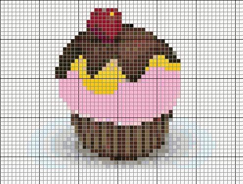 Cupcake Cross Stitch Pattern via My Favourite Things