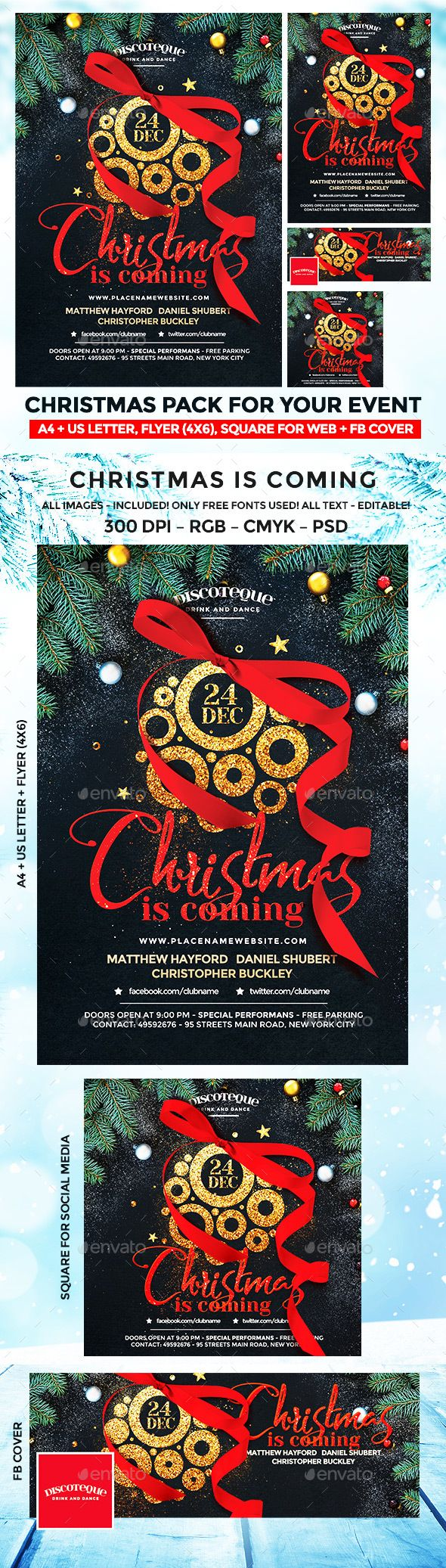 Best 25 event flyers ideas on pinterest flyer and poster design christmas flyer pronofoot35fo Image collections