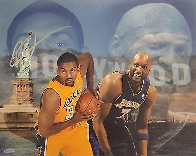 Ron Artest Metta World Peace Signed Autographed 16x20 Photograph Lakers UDA Odom