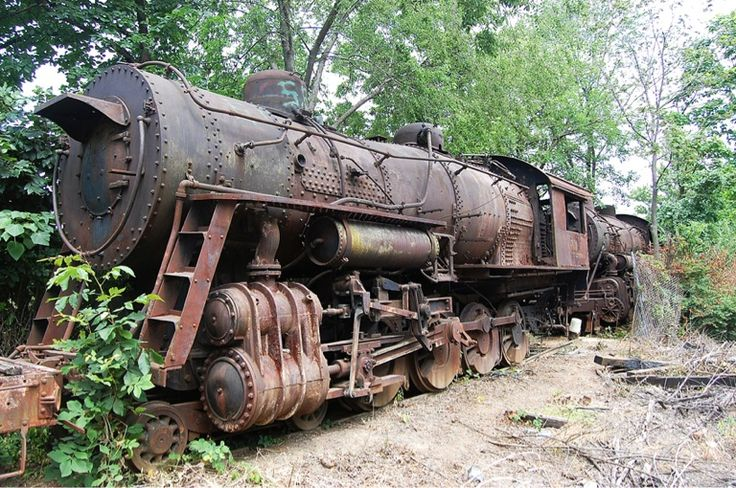Norfolk & Western steam locomotive #1134 waits to be moved after almost 60 years. The Virginia Museum of Transportation announced Wednesday they will preserve the long-abandoned train along with several others. This M2 class locomotive was built in 1910.