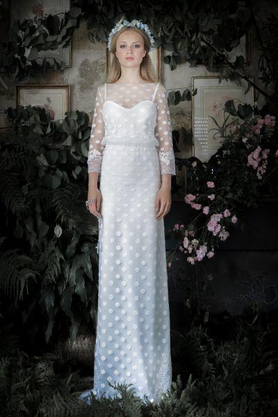 20 vestidos de novia con plumeti 2017 a los que no te podrás resistir. ¡Toma nota! Image: 19