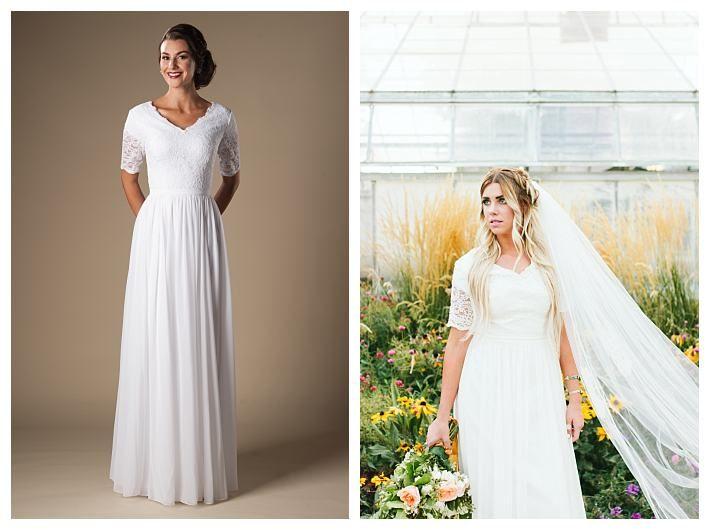 leonora in white budget wedding dress gateway bridal and prom lds wedding